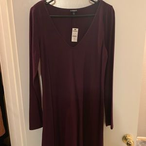 Express Maroon Dress